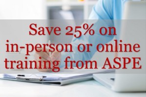 Save 25% on training from ASPE Training