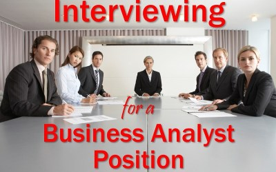 MBA131: Interviewing for a Business Analyst Position