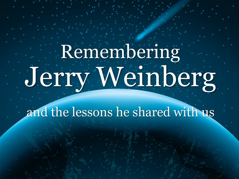 MBA165: Remembering Jerry Weinberg