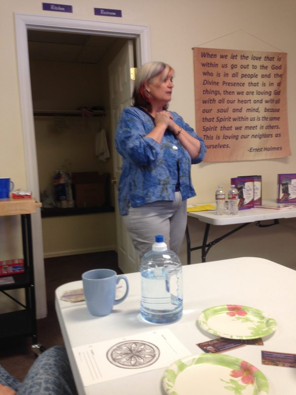 Christi teaching at workshop