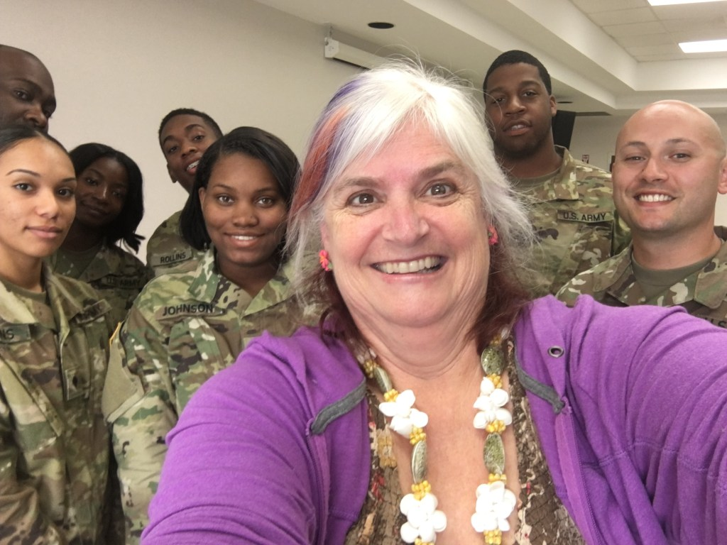Christi with Army workshop attendees