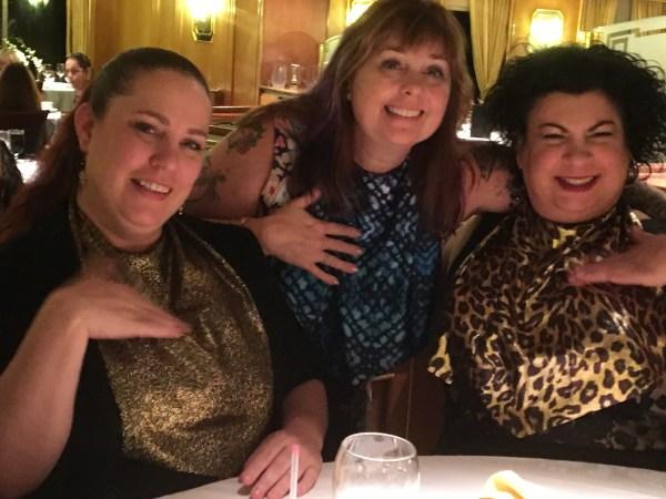 Trio wearing Glam Bibs