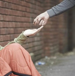 Giving to homeless