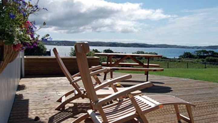 Deck at hotel on Iona