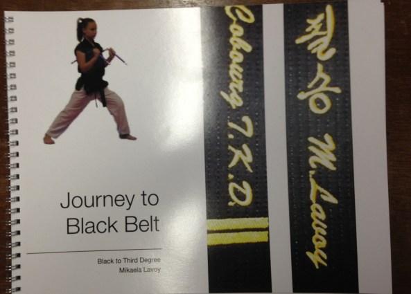 mikaela black belt poster cobourg tae kwon do
