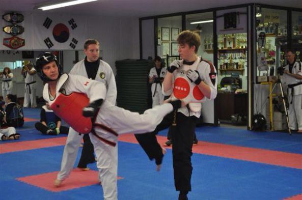 three 2014 black belt grading cobourg tae kwon do