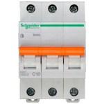 Автоматичний вимикач Schneider Electric Домовий 3P 10А (C) 4.5кА
