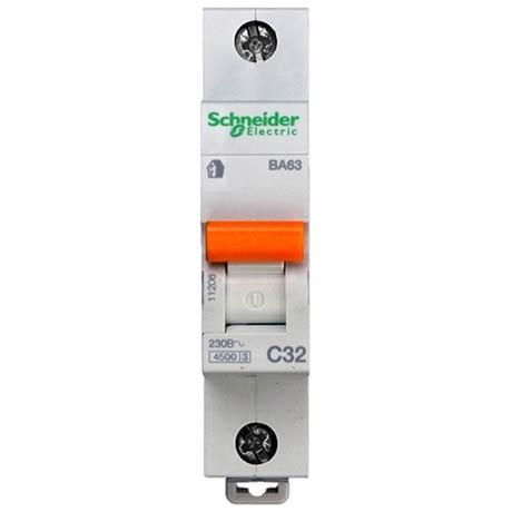 Автоматический выключатель Schneider Electric Домовой 1P 32А (C) 4.5кА