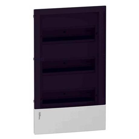 Распределительный шкаф Schneider Electric MINI PRAGMA 36 мод., IP40, встраиваемый, пластик, дымчатая дверь, с клеммами