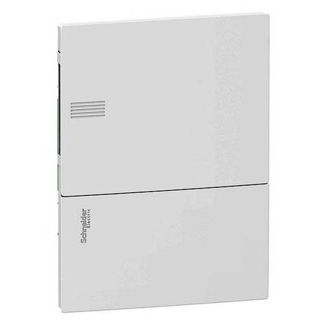 Распределительный шкаф Schneider Electric MINI PRAGMA 6 мод., IP40, встраиваемый, пластик, белая дверь, с клеммами