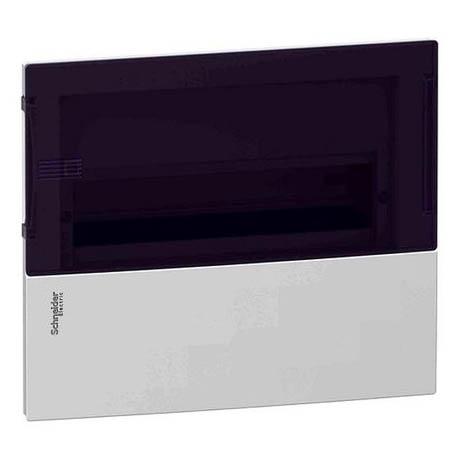 Распределительный шкаф Schneider Electric MINI PRAGMA 12 мод., IP40, встраиваемый, пластик, дымчатая дверь, с клеммами