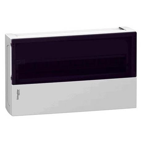 Распределительный шкаф Schneider Electric MINI PRAGMA, 18 мод., IP40, навесной, пластик, дымчатая дверь, с клеммами