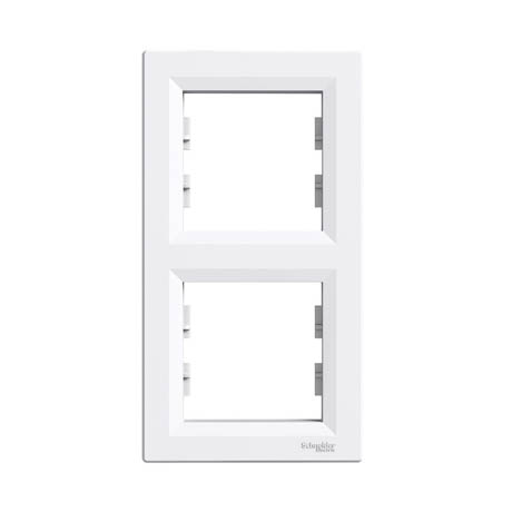 Рамка Schneider-Electric Asfora 2-постовая вертикальная белая