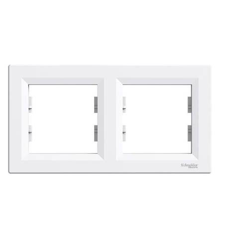 Рамка Schneider-Electric Asfora 2-постовая горизонтальная белая