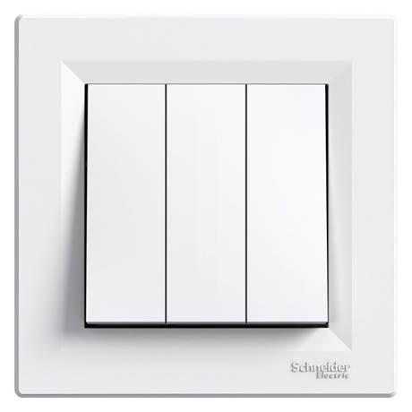 Выключатель Schneider-Electric Asfora 3-клавишный белый