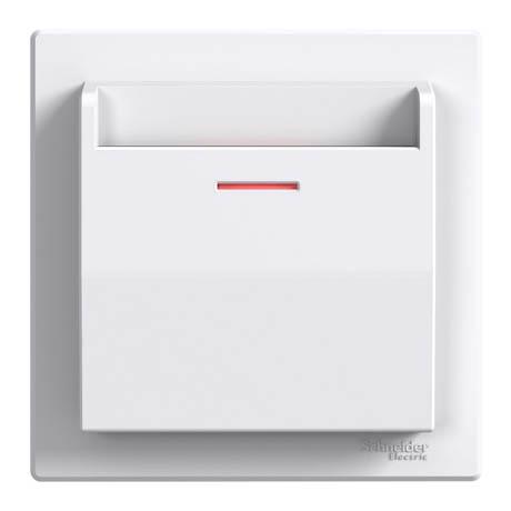 Выключатель Schneider-Electric Карточный белый