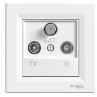 Розетка Schneider-Electric Asfora TV-R-SAT прохідна (4 дБ) біла
