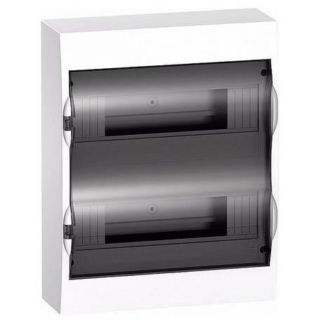 Распределительный шкаф Schneider Electric Easy9, 24 мод., IP40, навесной, пластик, прозрачная дверь, с клеммами