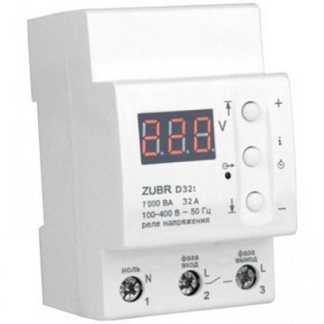 Реле контролю напруги DS Electronics ZUBR 32A c термозахистом