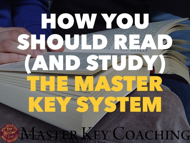 How to Read (and Study) The Master Key System