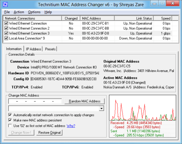 Change MAC Address Crack Free