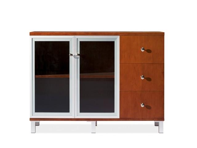 meuble bas 2 portes vitre 3 tirr hq 7042 1200 400 800 hq 03 walnut