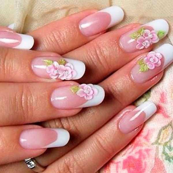 Цветок на ногтях фото пошагово – Рисунки цветов на ногтях ...