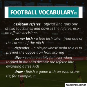Useful words to speak about football | Masterpiece | Football vocabulary