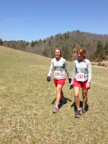 Mother and daughter, Christine and Anna Reavis finishing!