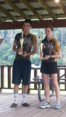 1st place mixed team: Siblings Sydney and Kendall Haynes