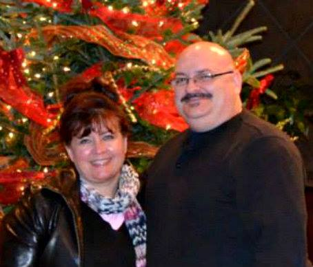 Tony and his wife, Sheila, celebrating Christmas at Bogeys this past year.