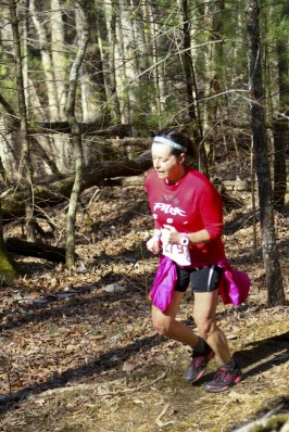 Second place overall female, Anita Nemick, running intensely focused!!