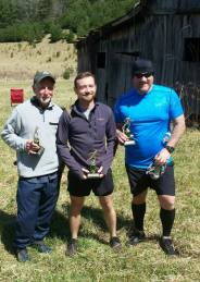 Overall male winners with trophies.