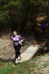 Amanda Johnson closing out her run.