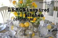 Lemon inspired tablescape
