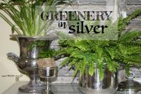 Greenery in silver