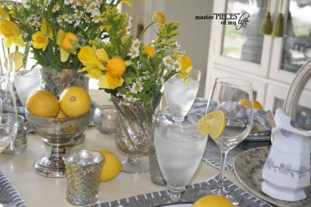Lemon inspired tablescape2