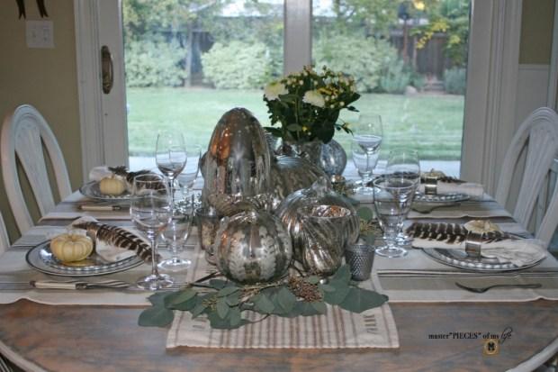 Mercury glass friendsgiving tablescape1
