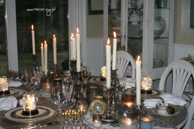 Dazzingly bright new years eve tablescape7