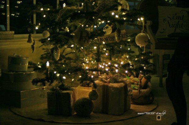 A trimmed christmas tree11