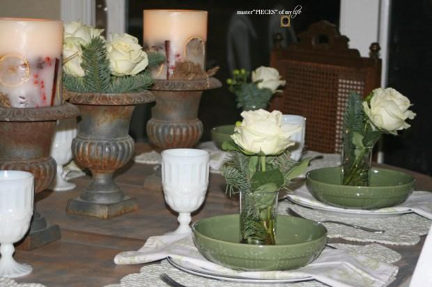 Winter greens tablescape3