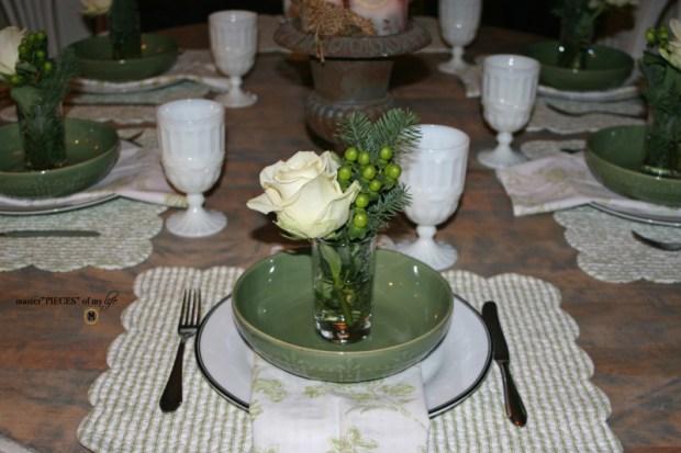 Winter greens tablescape6