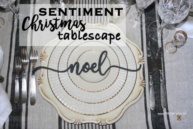 Sentiment Christmas tablescape