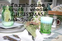 Farmhouse truck tablescape