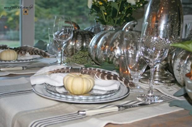 Mercury glass friendsgiving tablescape9