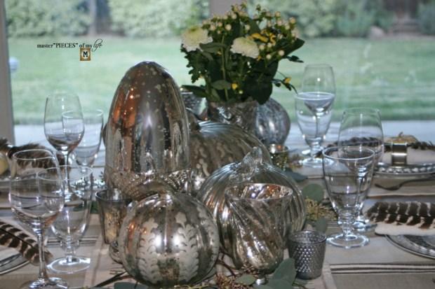 Mercury glass friendsgiving tablescape8