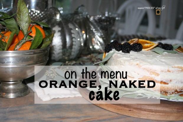 On the menu - orange  naked cake
