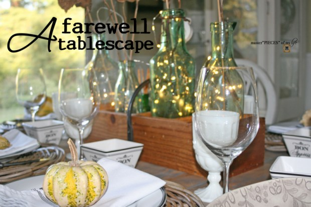 A farewell tablescape