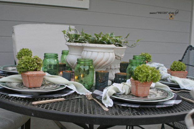 Last day of summer garden tablescape 1