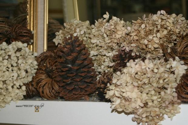 Rustic autumn mantel 12